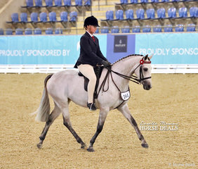 "Mikayla Towers rode ""Dunelm Calender Girl"" to 3rd place in The McCANN FAMILY Child's Open Small Galloway Championship."