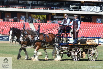 David Cranwell's nomination, 'Woodlands Park Peter' and 'Oscarville Jade' took second place in the class for Four Wheeled Vehicle Heavy Horse Turnout.