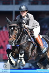Kayla Hogg and her 'Algheringa Tradition' look a picture of concentration during the Junior Grand Prix, the last class at the 2019 Royal Esater Show for the Junior riders.