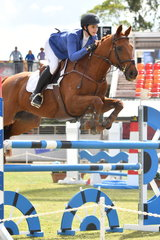 Tori Cureton rode her wonderful Thoroughbred, 'Double The Bank' to take fifth place in the Junior Grand Prix.
