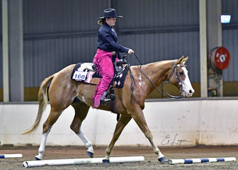 MPQ STORYS GALLANT LAD RIDDEN BY BRITNEY JONES IN THE YOUTH TRAIL.