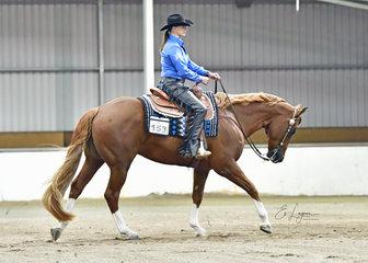 RAELENE GILBOY RIDING RD DOC HOLLIDAY IN WESTERN HORSEMANSHIP