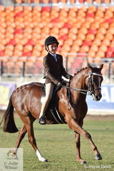 Tyler Sams rode well to win the class for Boy Rider 9-12 Years.