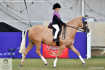 Successful young rider, Chase Jackson from Queensland rode well today to win the class for Boy Rider 6-9 Years and go on to take out the 2019 Sydney Royal Easter Show Junior Boy Rider Championship.