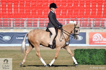 Jack Jackson rode his well performed, 'Elvonara Park Kandyman' to win the class for Open Show Hunter Pony 13-13.2hh and go on to take out the Large Show Hunter Pony Reserve Championship.