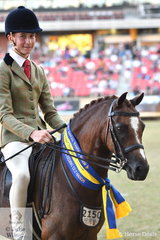 Tyler Kelly rode Rhys Stones and the J and R Equestrian nomination, 'Owendale Valencia' to win the Open Show Hunter 12-12.2hh class and went on to be declared Reserve Champion Small Show Hunter Pony.