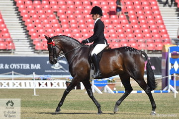 Margot Haynes rode her own and David Quayle's nomination, 'Royal Highness' to claim the Runner Up award in the FL Crane Trophy for Mares 15-16hh Showing Thoroughbred Qualities.