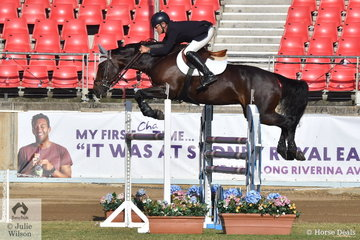 Not so lucky this morning, however successful jumping rider, Andrew Inglis pictured riding, his own, Jenny Sheppard and Paul Kelly's nomination, 'Alillie' won a Part Three class earlier in the show.