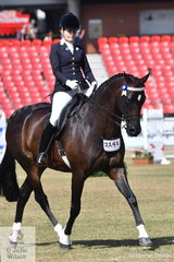 Sarah Stafford rode her own, Paul Austin and Mark Lilley's nomiation, 'Pandemonium' to sixth place in the class for Open Hack Over 16.2hh.