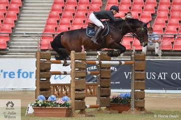Jennifer Wood is having a great show and today took second place in the Section Two jump off class with her impressive stallion, 'Cocaine Ego Z'.