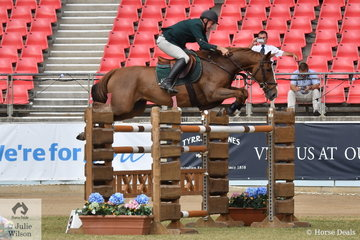 Chris Chugg is having an outstanding show with his team of imported horses that have really grown up over the past twelve months, he is pictured aboard, 'KG Queenie' that won the Section Two jump off class. Later in the day Chris won the prestigious Section One EA Cup riding PSS Levilensky.