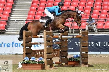 Amanda Madigan rode the Diamond B Farm nomination, 'Diamond B Vivienne' to take fourth place in he Section Three jump off class.