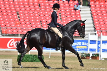 Jessica Dertell rode the Future Farms nomination, 'Fearless FF' to win the class for Novice Hack 15.2-16hh and today took sixth place in the Open.