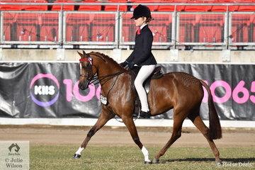 Taryn, Alyssa and Kaye Walsh's 12-12.2hh winner, 'Drumeden Chanel' was declared Best Novice Pony.
