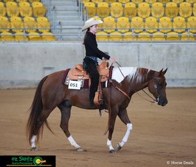 Kicking off the 2019 Paint Horse National Championships in the Youth Ranch Riding was Samantha Wakefield riding Widowers Web Maker.