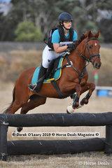 "Local Riddells Creek member, Laura Dunn in the Pony Club Grade 3 riding ""Granjira"""