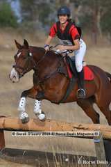 "Paige Douglass rode ""Sleeping Beauty"" in the Pony Club Grade 3 placing 5th with a final score of 40"