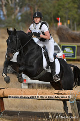 "Louise Conway in the Open Grade 3.1 riding ""Flamsteed"" placed 8th with a final score of 67"