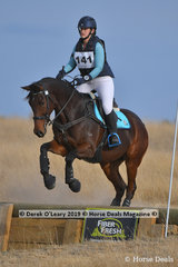 """Sharni Stewart placed 3rd in the Open Grade 3.1 riding """"Winter is Coming"""" with a final score of 52"""