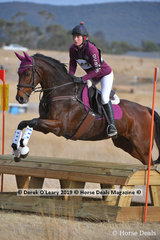 "Kymberlie Hobby rode ""No Song No Supper"" in the Open Grade 3.1"