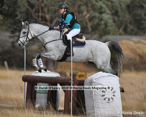 "Bridget Mouat placed 2nd in the Pony Club Grade 2 riding ""Incy Wincy Spider"" with a final score of 62"