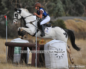 "Josephine Thompson rode ""Wings"" in the Pony Club Grade 2 placing 5th with a final score of 79"