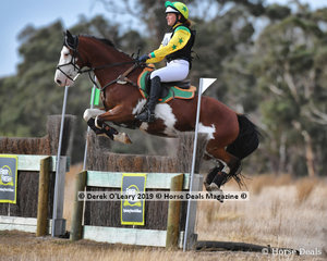 """Alexis Bellingham and """"BP Pulp Fiction"""" placed 8th in the Pony Club Grade 2 with a final score of 103"""