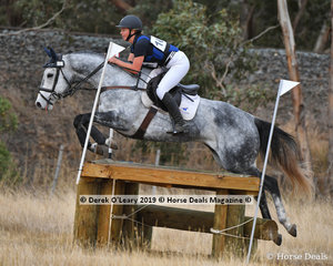 """Olivia Thompson and """"Shady Spud"""" placed 4th in the Open Grade 1 with a final score of 141"""