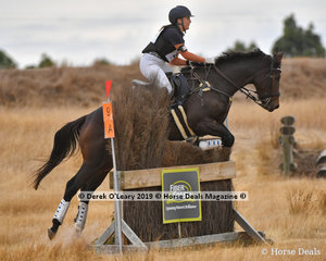 """Haylea Wright in the Open Class riding """" Princess Keikilani """" placed second with a score of 87"""