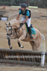 "Winner of the Pony Club Grade 4, local Riddells Creek rider, Patrick Keogh riding ""Mudslide"" winning on a score of 24"