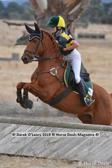 """4th place in the Pony Club Grade 4 went to Holi Campbell riding """"Lily In The Meadow"""" with a final score of 46"""