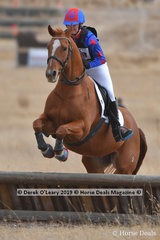"""Winner of the Open Grade 4.1 Erin MacKenzie riding """"Y Worry"""" with a final score of 21"""