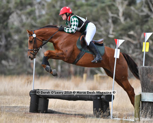 """Winner of the Open Grade 4.2, Stacey Tucker riding """"Tullows Final Fling"""" with a winning score of 31"""