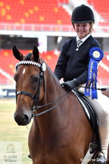 Ava Peel rode , 'Boon Hill Boston to win the class for Pony Club Rider 11 AU 13 Years.