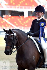 Isabelle Kennedy rode , 'Bolagamy Pinpoint' to win the class for Pony Club Rider Under 11 Years.