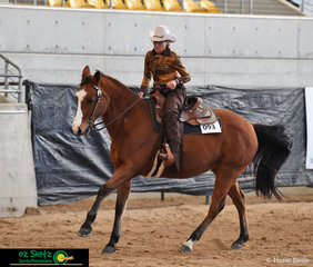 Executing their fly changes it was no surprise that Jill Wagner and Royal Heart Throb won the final class of the 2019 Paint Horse National Championships, Open All Age Western Riding.