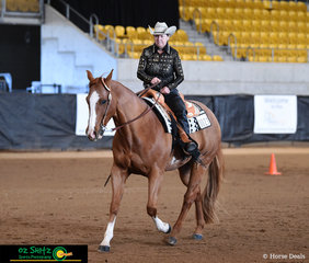 On the final day of competition, Little Bobby Dazz and Jo Ralston put their best foot forward in the Masters Ama Western Equitation class.