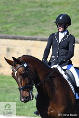 Tania Harding rode Jirrima Easyjet to lead the dressage phase of the Hillsdistrict Farm Machinery CCN2*.