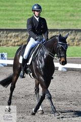 Sam Lyle rode Merran Wallis', Thoroughbred, Superclass to second place after the dressage phase of the Macarthur Automotive CCI4*-L.