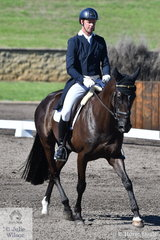 Deon Stokes riding his Koyuna Levi holds 4th position after the dressage phase of the Macarthur Automotive CCI4*-L.