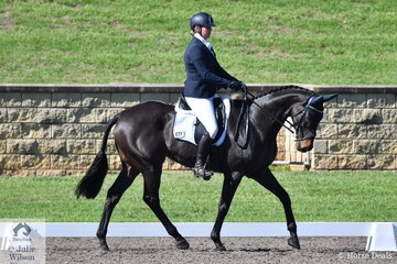 Laura Wallace rode The Selby Syndicate's, Van Heck to eighth place after the dressage phase of the Macarthur Automotive CCI4*-L.