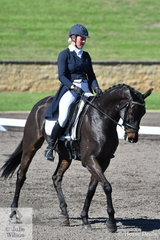 Thea Horsley riding her Thoroughbred Kelecyn Supernatural is in seventh place after the dressage phase of the Macarthur Automotive CCI4*-L.