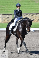 Annabel Armstrong rode Quapride to hold third place after the dressage of the Macarthur Automotive CCI4*-L.