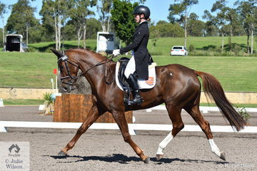 Emma Mason has just stepped Aramatai Fox to 4* level and holds 13th place after the dressage phase of the Bates Saddles CCI4*-S.