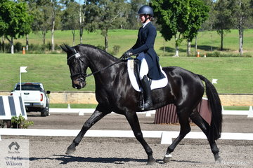 Jessica Rae and Rascal hold third place in  the dressage phase of the Bates Saddles CCN4*-S. Within the 4* there is a CCI Long (L), CCI Short (S) (International) and CCN S (National).