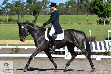 Shane Rose rode his homebred Pumpkin, to hold fifth place after the dressage phase of the Bates Saddles CCI4*-S.