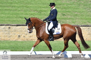 Stuart Tinney rode Elisabeth Briton's, promising Celebration to hold third place after the dressage phase of the Bates Saddles CCI4*-S with a score of 29.60.