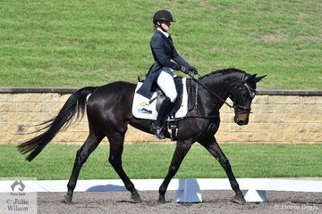 Gemma Tinney and Annapurna are positioned in 9th place after the dressage phase of the Bates Saddles CCI4*-S.