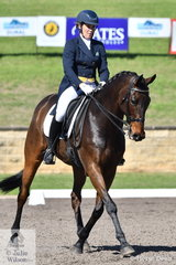 Nikki Rose and the Thoroughbred, Glenorchy South Park are in 8th place after the dressage phase of the Bates Saddles CCI4*-S.