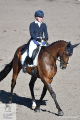 Madeline Wilson rode IM Bruce to hold fifth place after the dressage phase of the Bates Saddles CCN4*-S.